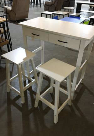 Table with two stools antique for Sale in Dallas, TX