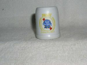 "Vintage Ceramarte Brazil PABST BLUE RIBBON 2 1/2"" Ceramic Stein Mug for Sale for sale  Inverness, FL"