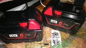 18V 6.0 lithium-ion power tool batteries for Milwaukee power tools for Sale in Peoria, AZ