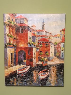 Painted art on canvas, Venice, Italy for Sale in Markham, VA