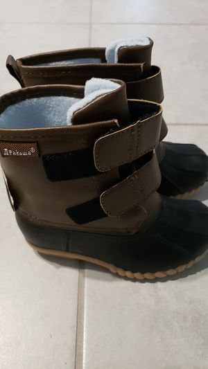 Apakowa Kids Girls Waterproof Rain Boot (Little Kid/Big Kid) (Color : Brown2, Size : 11 M US Little Kid) for Sale in Cypress, TX