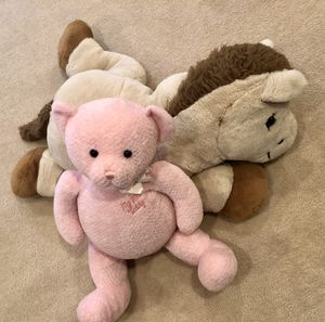 Gund pink bear and large plush horse for Sale in Darnestown, MD