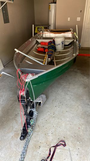 12' fishing boat AND trailer! for Sale in Woodstock, GA