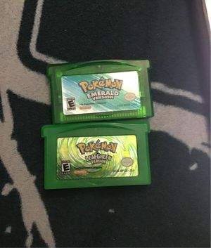 Pokémon emerald and leaf green for Sale in Brooklyn, NY