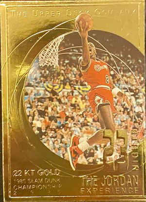 """1997 UD 23 NIGHTS 22KT GOLD """"85 SLAM DUNK"""" MICHAEL JORDAN BGS MINT 9 *ULTRA RARE for Sale in Stanley, NC"""