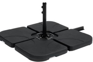 """Umbrella Stand 4-Piece Black- 39.7""""(L) x 39.7""""(W) x 3""""(H) Weight: 19 lbs. (shipping only) for Sale in Dallas, TX"""