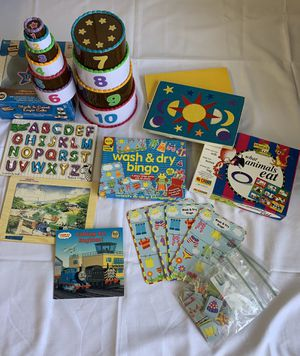 Pre-School Learning games, ABC & Thomas Tank puzzles, BINGO for Sale in San Marcos, CA