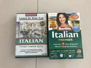 Italian learn language school berlitz premier cd entire set for Sale in Oakland Park, FL