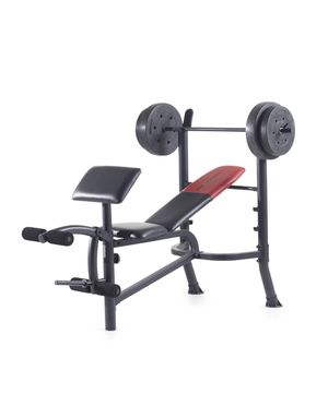 Weider Pro Standard Bench with 80 Lb. Vinyl Weight Set for Sale in Lutz, FL