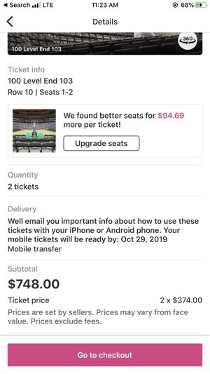 Knicks vs Lakers tickets! for Sale in Passaic, NJ