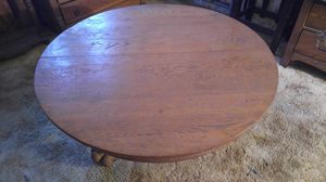 ANTIQUE OAK CLAW FOOT COFFEE TABLE-ROUND for Sale in Alhambra, CA