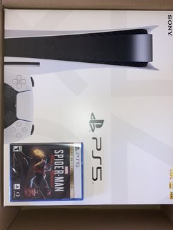 SEALED PS5 CONSOLE WITH SEALED SPIDER-MAN ULTIMATE EDITION for Sale in Fresno,  CA