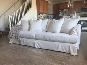 Solano slipcover sofa & Solano slipcover oversized chair for Sale in Peoria, AZ