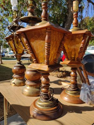 6 piece working Retro vintage lamp set for Sale in Whittier, CA