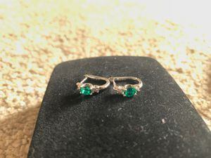 Diamond and Emerald earrings for Sale in Anaheim, CA