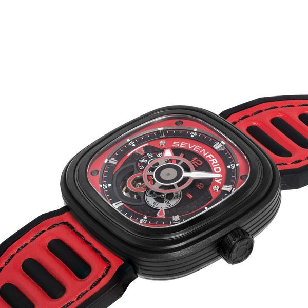 Seven Friday watch RED 48mm like new. Firm price