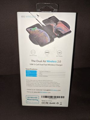 Dual Air Wireless 2.0 10W 5-coil dual fast wireless charger IBIS for Sale in Jersey City, NJ