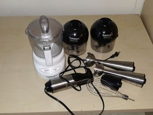 Cuisinart food processor, stick blender, & whisk set for Sale in Seattle, WA