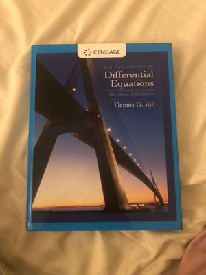 A First Course In Differential Equations by G. Zill for Sale in Culver City, CA