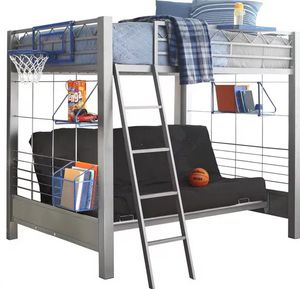 Full bunk bed w/futon for Sale in Thompson's Station, TN