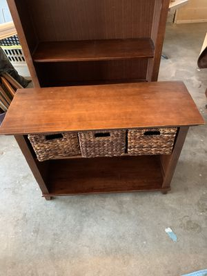 Desk table with baskets for Sale in Livermore, CA