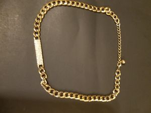Fake diamond gold chain necklace for Sale in Miami Springs, FL