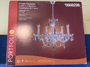 Crystal Chandelier new in box $40 for Sale in Hillcrest Heights, MD