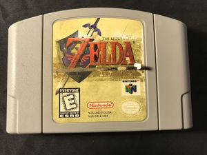 Authentic Zelda Ocarina of Time Nintendo 64 N64 for Sale in Bakersfield, CA