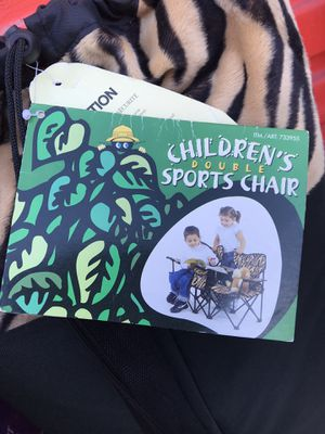 Tiger print kids double folding chair for Sale in Del Mar, CA