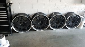 """24""""6 lug black Rims sale or Trade for 8 lug chevy rims for Sale in Saint Charles, MD"""