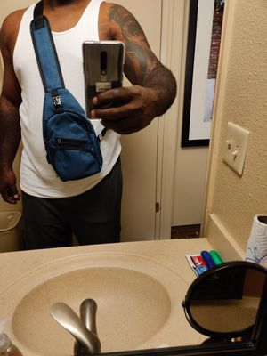 Men shoulder backpack, with phone charger for Sale in Houston, TX