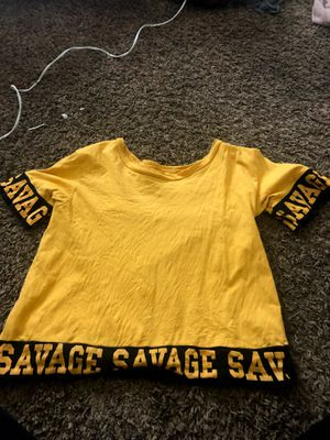 on fire yellow savage shirt for Sale in Bakersfield, CA