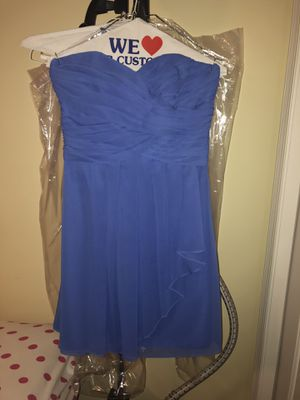"David's bridal ""Morning glory"" color Strapless dress- size 6 for Sale in New Hope, PA"