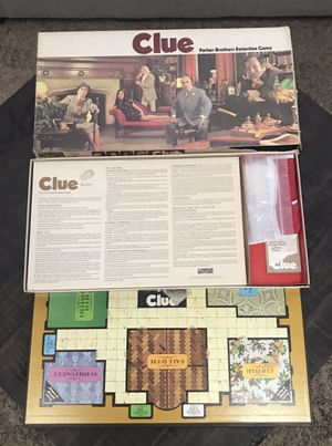 Vintage Clue Board Game Complete for Sale in Port St. Lucie, FL