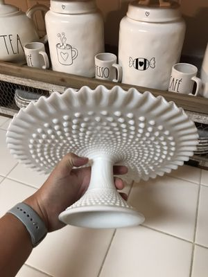 Fenton milk glass cake stand! for Sale in Roseville, CA