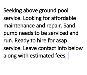 Need pool services in Kent for Sale in Kent, WA