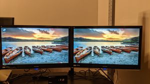 "1920 x 1080 24"" Dual monitor with dual monitor desk mount for Sale in Escondido, CA"