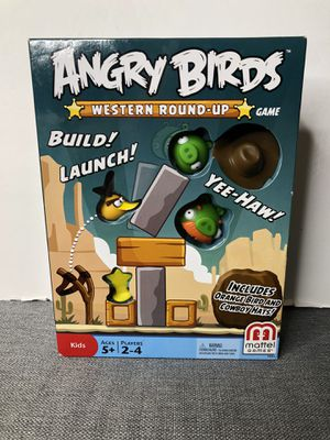 Rare Angry Birds Western Round Up Game Orange Bird Cowboy Hat Mattel 5+ 2012 for Sale in Sacramento, CA