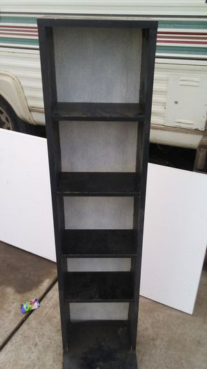 black particle wood stand for Sale in Empire, CA