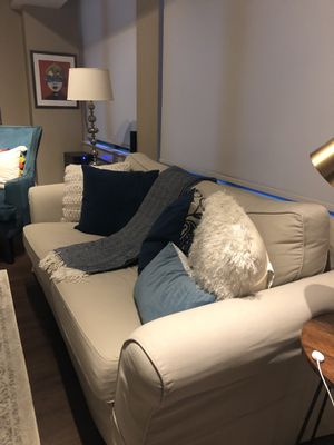 Price Reduction Pottery Barn Light Gray Large Couch for Sale in Washington, DC