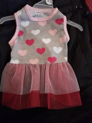 Grey shirt with pink red and white heart with pink and red tutu for Sale in Tulsa, OK