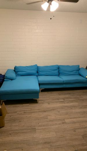 Blue couch for Sale in Tempe, AZ