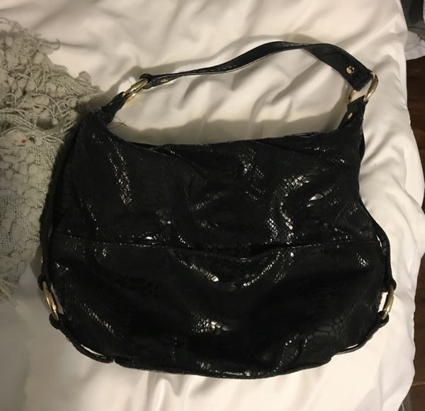 Michael Kors Black Snakeskin Hobo Bag