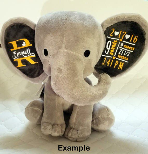 Personalized Elephant With Baby Birth Stats For Sale In Deltona Fl Offerup