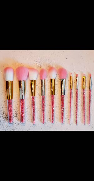 10pcs glitter handle makeup brush set for Sale in Los Angeles, CA