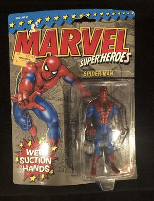 Vintage Marvel Toy Biz Spider-Man w/ Suction Hands #4802 Rare for Sale in Long Beach, CA