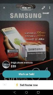 Samsung phone memory for Sale in Wichita, KS