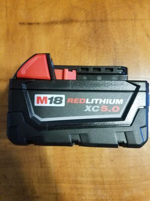 Milwaukee M18 5.0 XC Battery for Sale in Morgantown, WV
