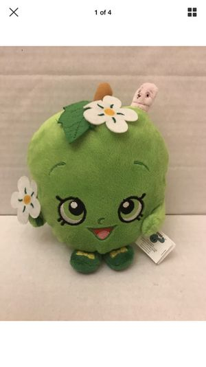 """Apple Blossom Shopkins Plush 7"""" Toy Moose Enterprise Green Worm for Sale in Chantilly, VA"""
