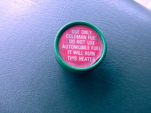 VTG 1960'S-70'S COLEMAN 513A CATALYTIC HEATER GAS TANK CAP for Sale in Tacoma, WA